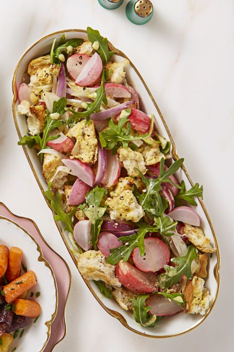 Radishes and Fennel Panzanella - Easter Dinner Ideas