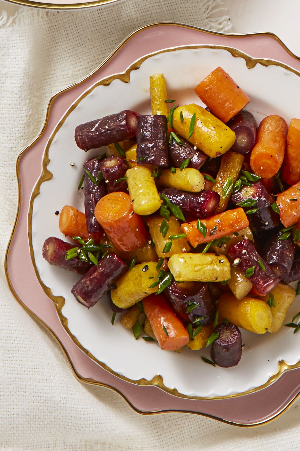 butter glazed rainbow carrots