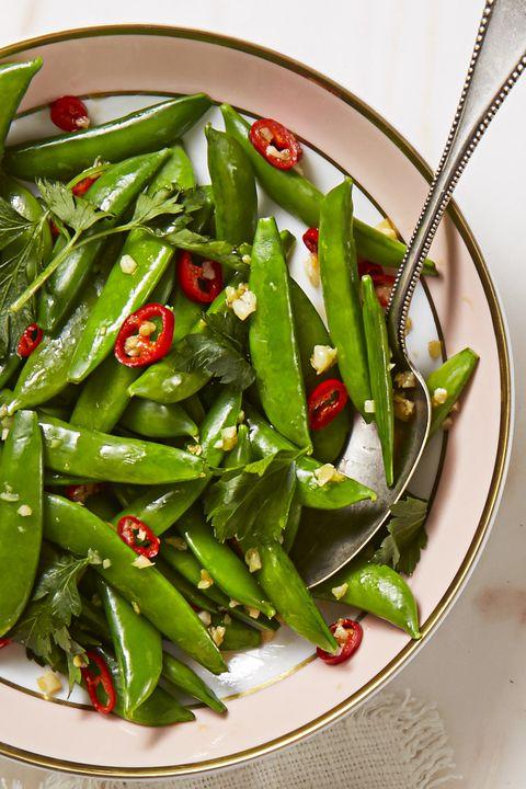Spicy Sesame Sugar Snaps - Easter Dinner Ideas