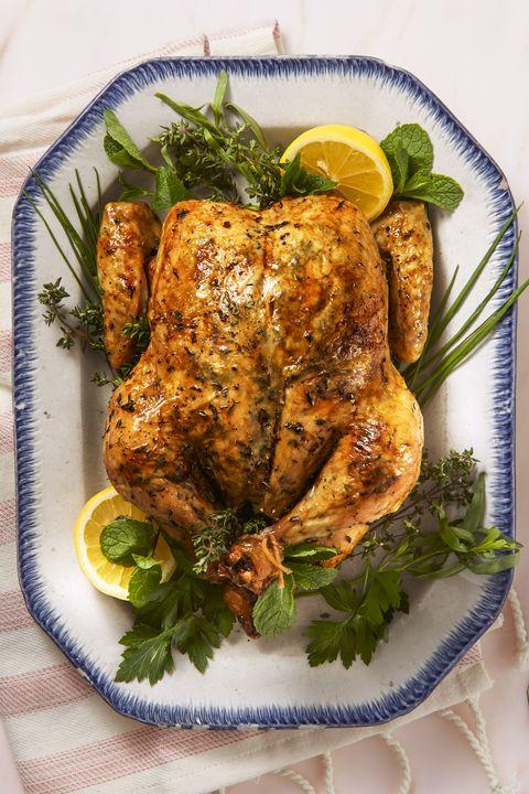 Lemon Herb Roast Chicken - Valentine's Day Dinner Ideas