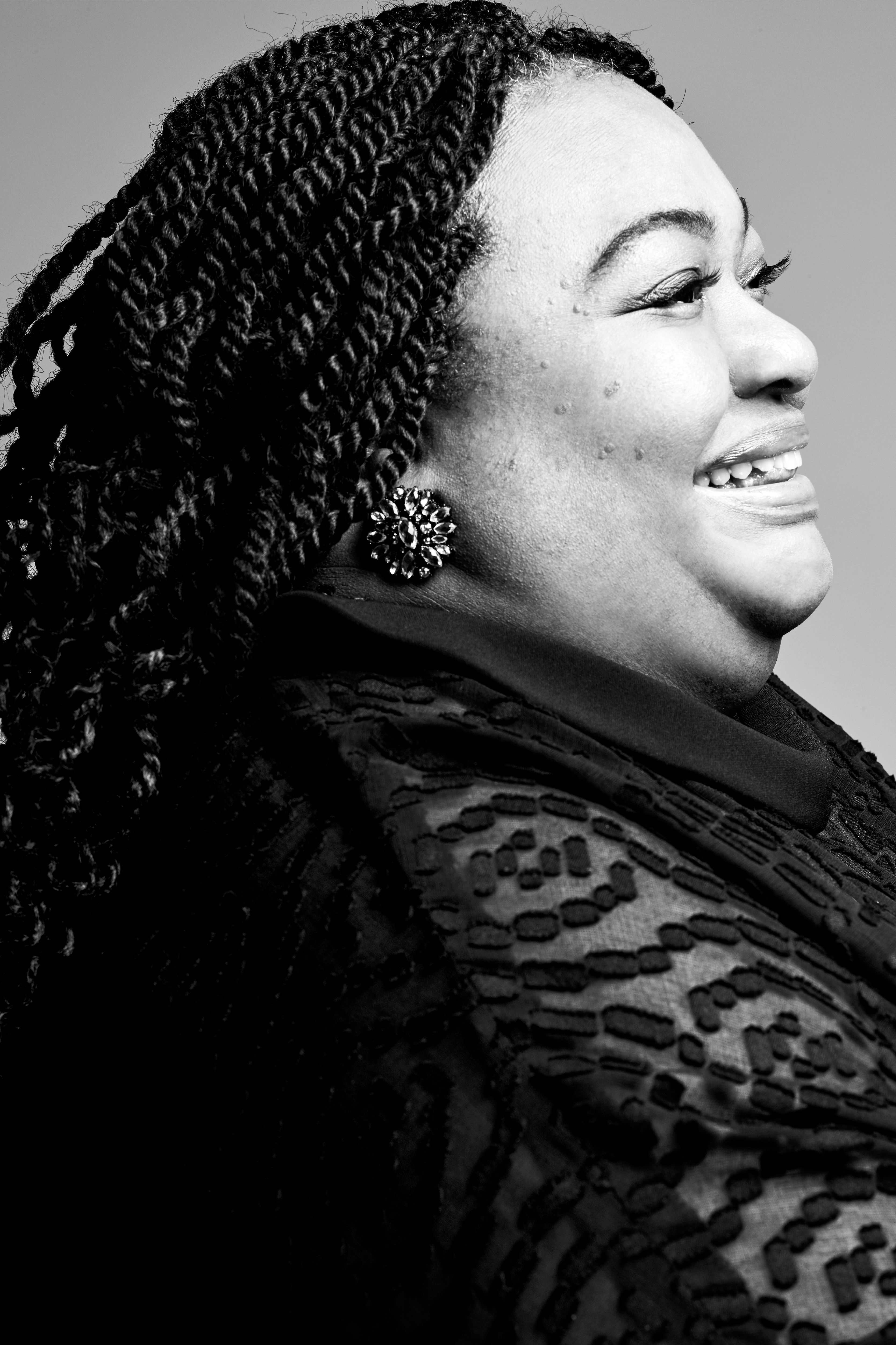 """<p><strong data-redactor-tag=""""strong"""">Crystal R. Emery, 56, producer and director of&nbsp&#x3B;</strong><strong data-redactor-tag=""""strong""""><i data-redactor-tag=""""i"""">Black Women in Medicine</i>, CEO and Founder of&nbsp&#x3B;<a href=""""https://urutherighttobe.org/"""" target=""""_blank"""" data-tracking-id=""""recirc-text-link"""">URU, The Right to Be, Inc.</a></strong><span class=""""redactor-invisible-space"""" data-verified=""""redactor"""" data-redactor-tag=""""span"""" data-redactor-class=""""redactor-invisible-space""""></span><br></p><p>""""I'm celebrating the courage of not being defined by other people's perspective of who I should be and what I am capable of. Regardless of limited mobility, I am energy in motion. As for my film, only two percent of all U.S. doctors are black women and I'm ready to change the face of STEM. Women are natural healers and it's&nbsp&#x3B;time for <i data-redactor-tag=""""i"""">herstory</i> to be celebrated."""" &nbsp&#x3B;&nbsp&#x3B;</p><p><strong data-redactor-tag=""""strong"""" data-verified=""""redactor""""><em data-redactor-tag=""""em"""" data-verified=""""redactor"""">Wardrobe:&nbsp&#x3B;<span class=""""redactor-invisible-space"""" data-verified=""""redactor"""" data-redactor-tag=""""span"""" data-redactor-class=""""redactor-invisible-space""""></span></em></strong><span class=""""redactor-invisible-space"""" data-verified=""""redactor"""" data-redactor-tag=""""span"""" data-redactor-class=""""redactor-invisible-space""""><em data-redactor-tag=""""em"""" data-verified=""""redactor"""">Dress designed by Barbara Parker</em></span></p>"""
