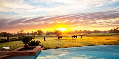 Sky, Natural landscape, Sunset, Sunrise, Cloud, Morning, Evening, Horizon, Landscape, Tree,
