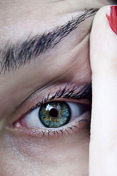Eyebrow, Face, Eyelash, Eye, Blue, Skin, Iris, Close-up, Green, Organ,