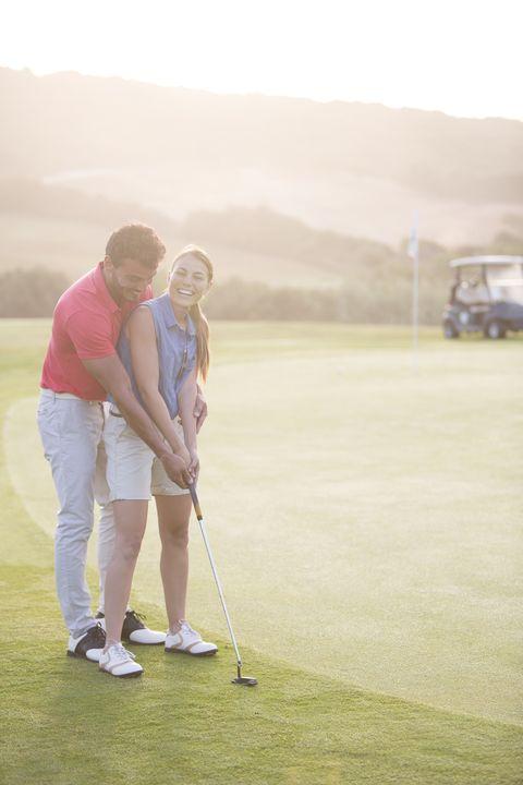Golfer, Golf, Photograph, Golf course, Golf club, Golf equipment, Professional golfer, Sport venue, Standing, Grassland,
