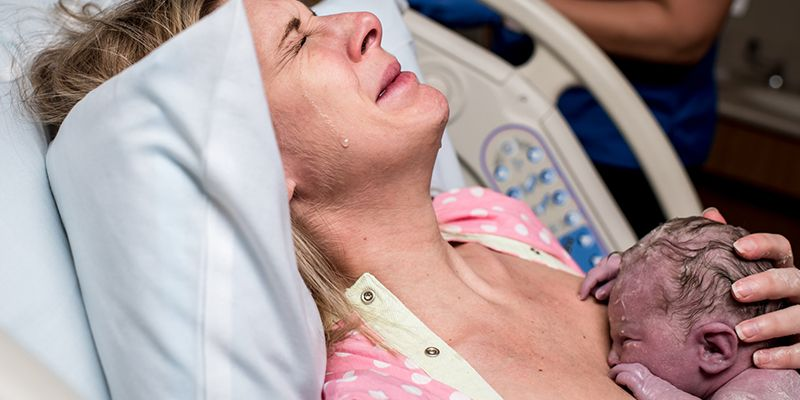 Photograph Captures The Powerful Emotions Of Giving Birth To A