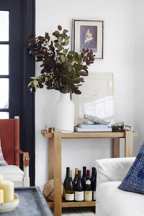 White, Room, Furniture, Interior design, Shelf, Table, Home, House, Wall, Living room,