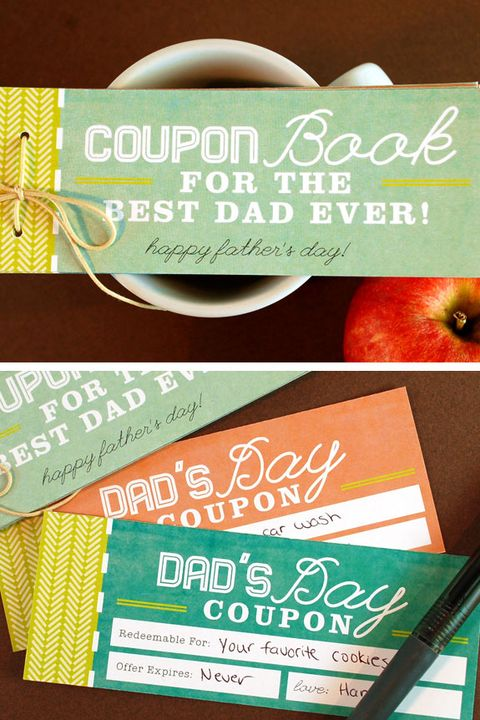 Coupon Book - Father's Day Crafts