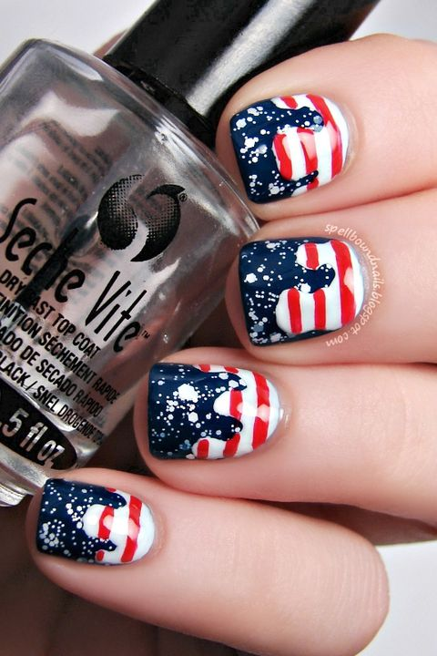 22 best 4th of july nail art designs cool ideas for patriotic fourth of july nails solutioingenieria Choice Image