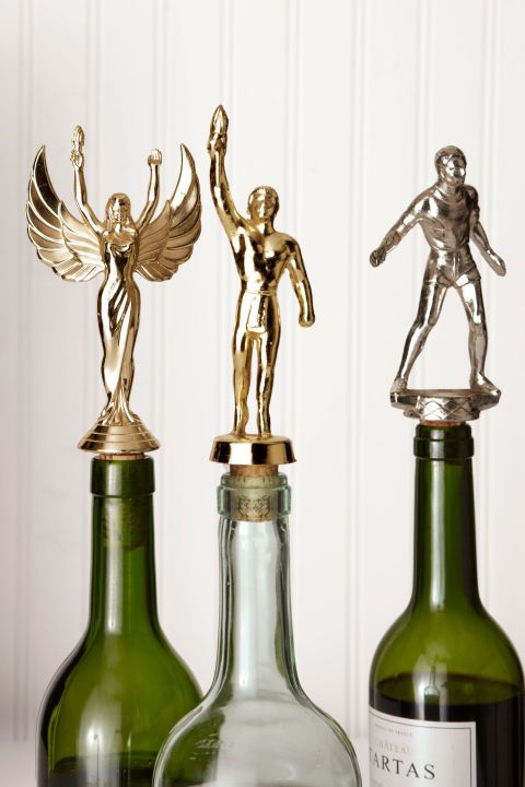 Trophy Bottle Toppers - Father's Day Crafts