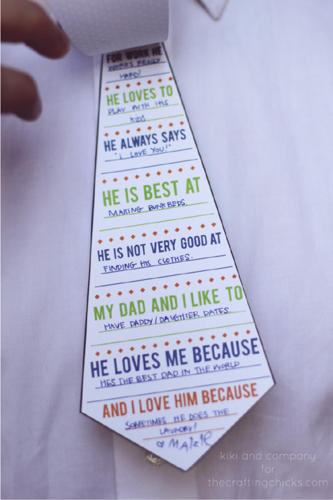 Wordy Dad Tie - Father's Day Crafts