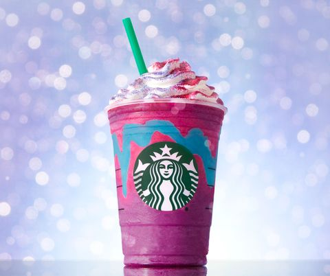 Pink, Milkshake, Drink, Non-alcoholic beverage, Food, Italian soda, Tumbler, Cream, Straw, Frappé coffee,