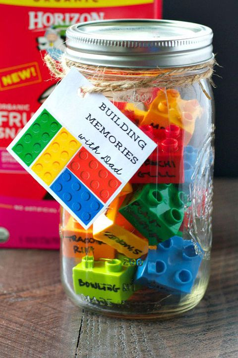 LEGO Memory Jar - Father's Day Crafts