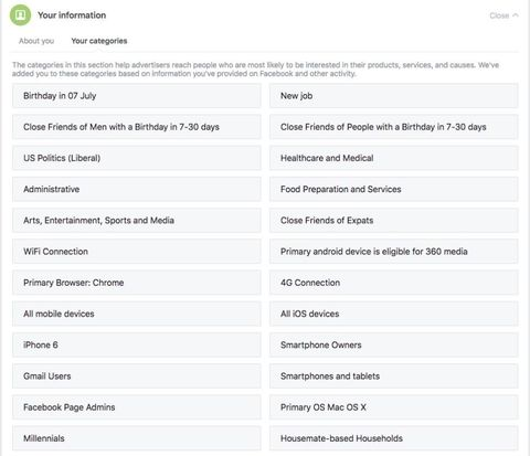 Facebook Ad Setting Categories - How to Change Facebook Ad