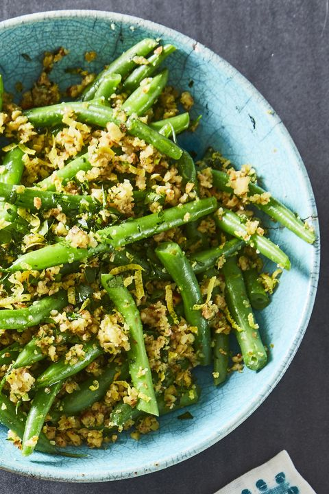 green beans with olive almond tapenade   easter side dishes