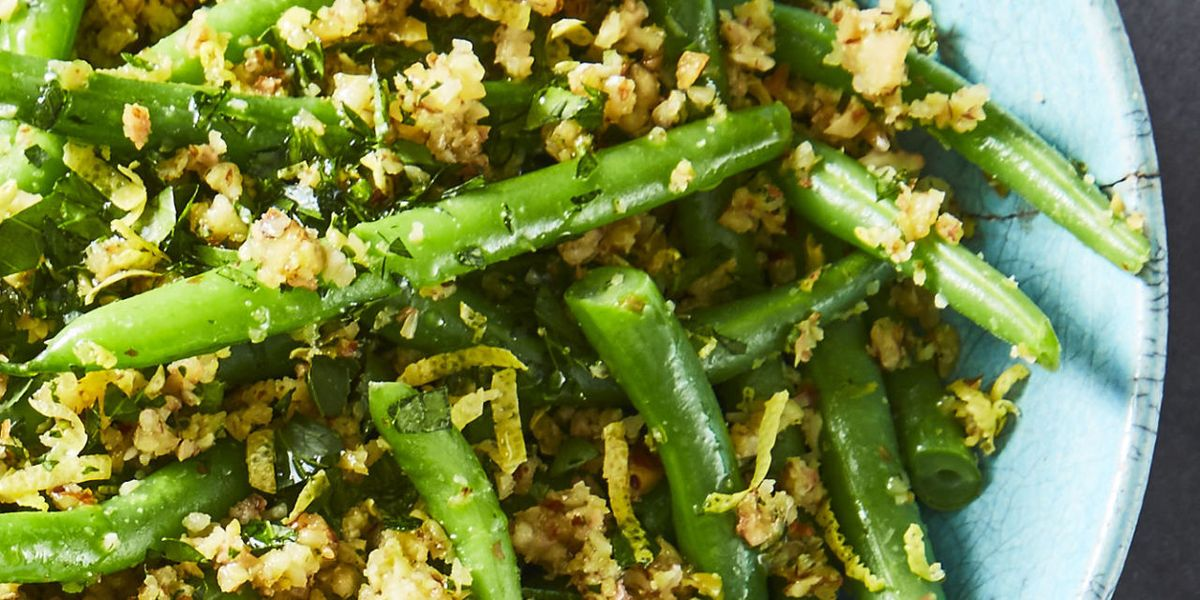 Best Green Beans with Olive-Almond Tapenade Recipe - How to make ...