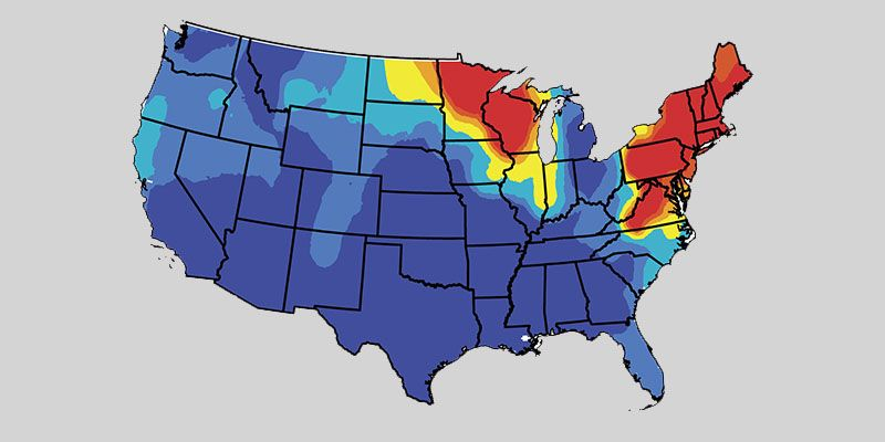 Show Map Of The Usa.Maps Show Where Lyme Disease Will Be The Most Prevalent This Year