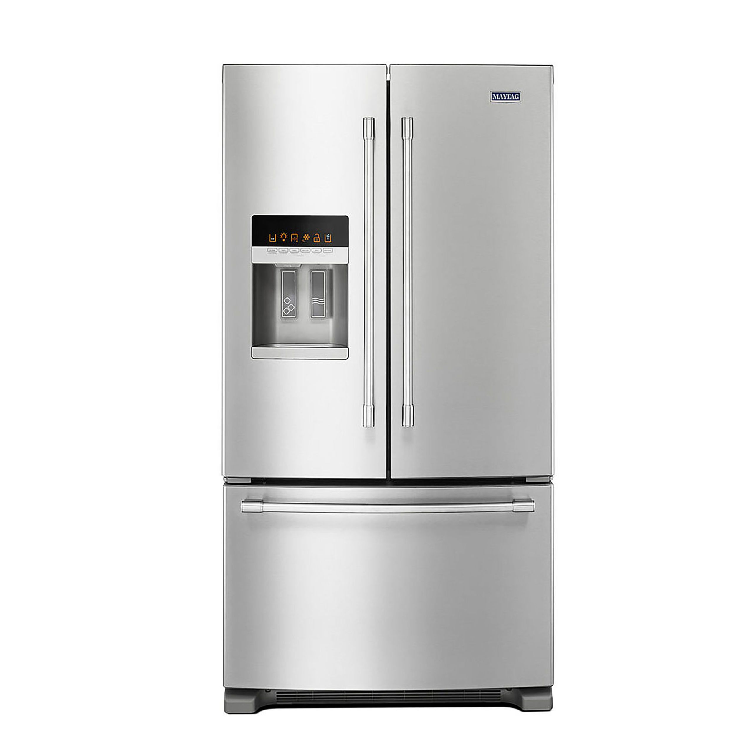 Maytag 36 Inch Wide French Door Refrigerator With Powercold Feature   25  Cu. Ft