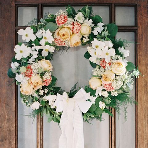 Flower Wreath With Bow - Summer Wreaths