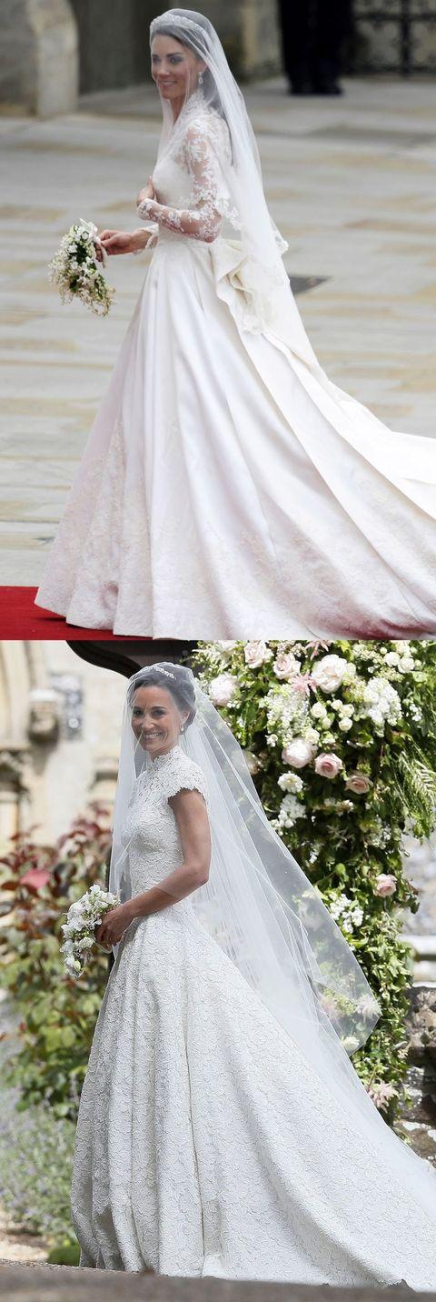 Wedding dress, Bride, Photograph, Veil, Dress, Gown, Clothing, Bridal clothing, Bridal accessory, Shoulder,