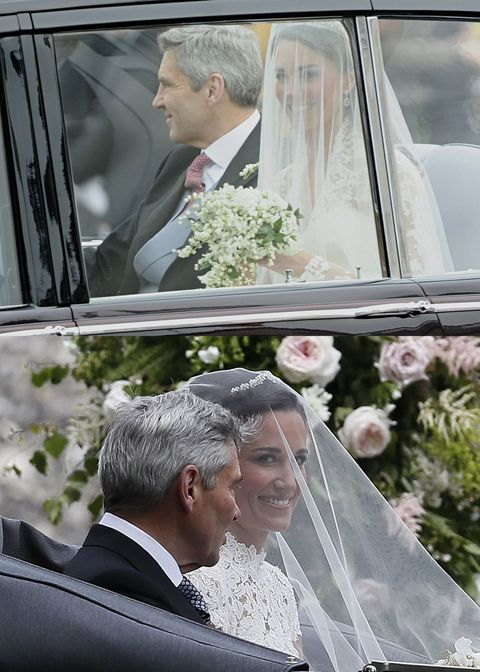 Photograph, Wedding dress, Bride, Ceremony, Marriage, Bridal clothing, Wedding, Veil, Event, Luxury vehicle,