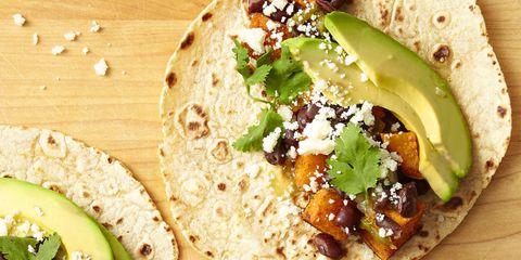 Sweet Potato, Avocado and Black Bean Tacos