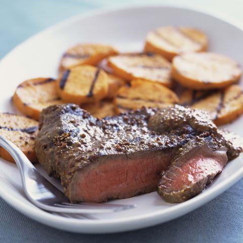 flank steak and sweet potato