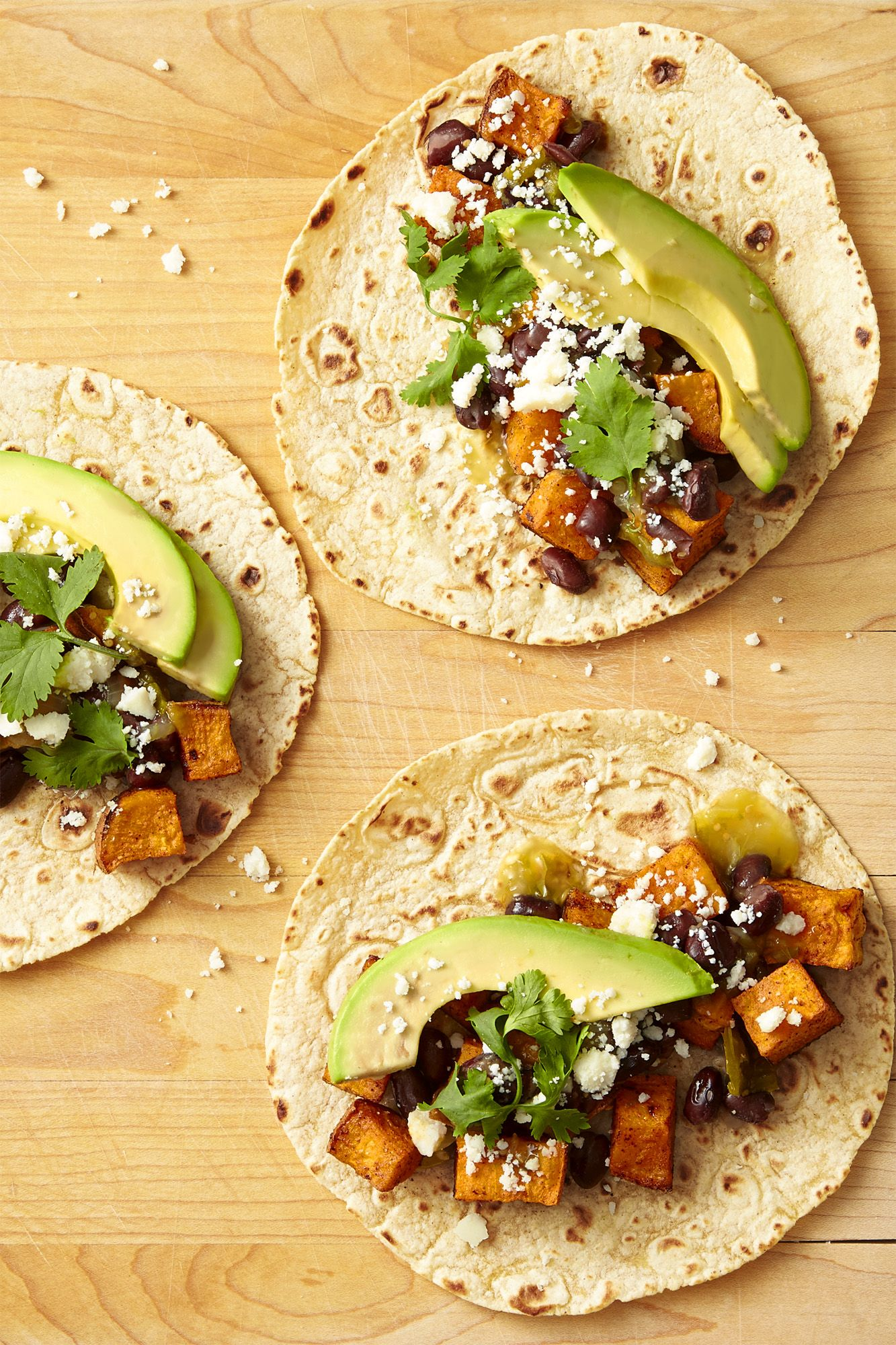 sweet potato avocado and black bean tacos