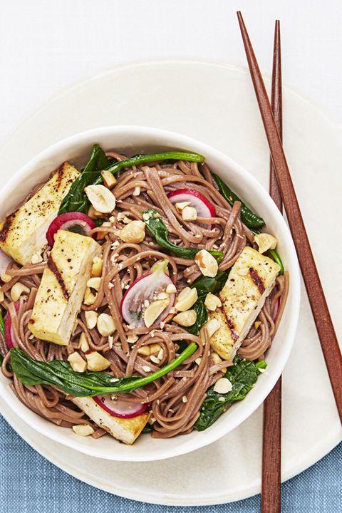 Soba Salad with Grilled Tofu - Tofu Recipes