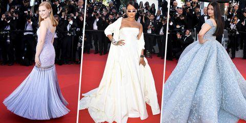 Gown, Dress, Red carpet, Clothing, Fashion model, Carpet, Shoulder, Flooring, Wedding dress, Fashion,