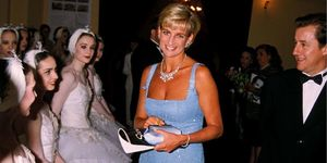 Princess Diana visits The English National Ballet, 1997