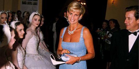 Princess Diana visits The English National Ballet, 1997