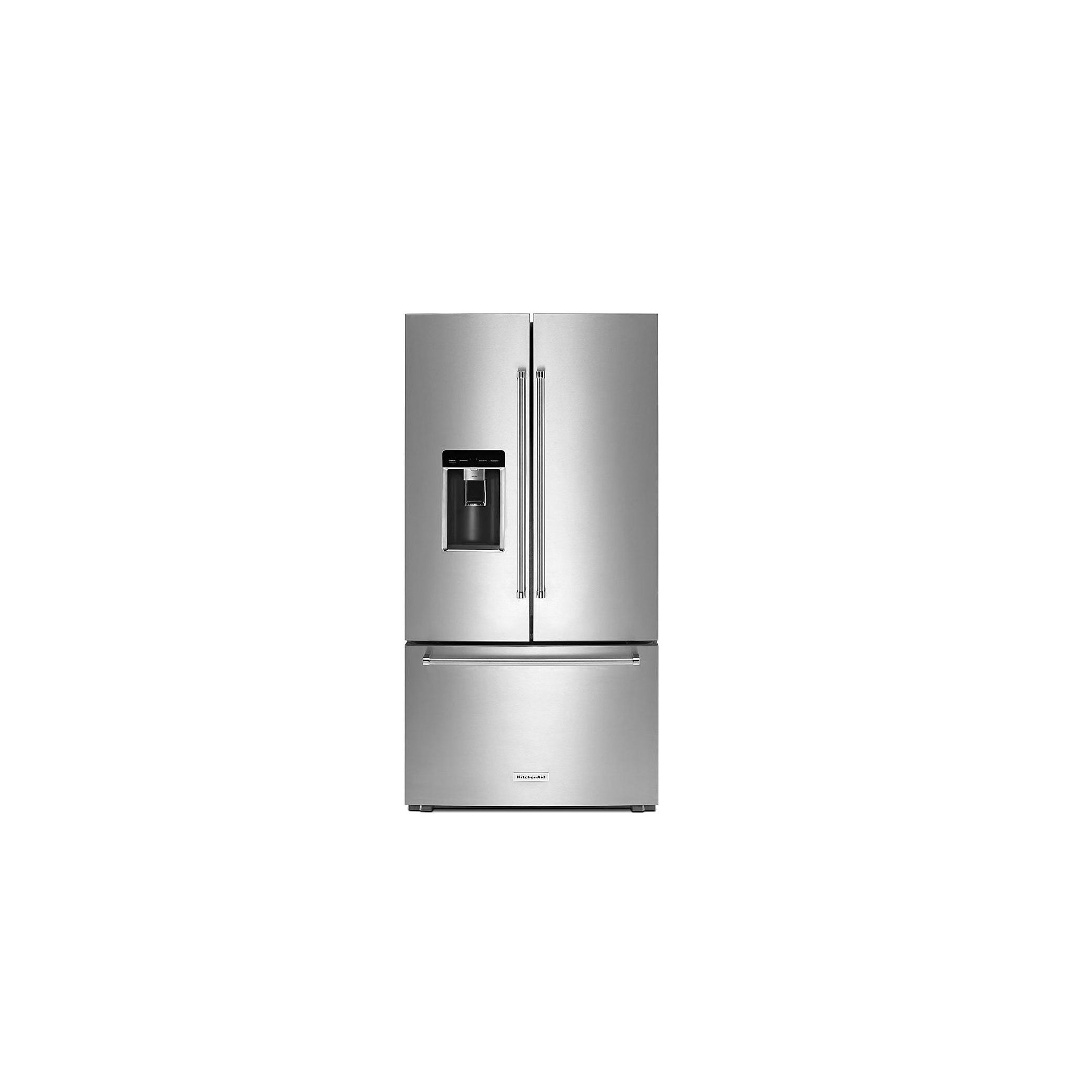Kitchenaid 23 8 Cu Ft French Door Platinum Interior Refrigerator Krfc704fps Review And Features Pros Cons Of