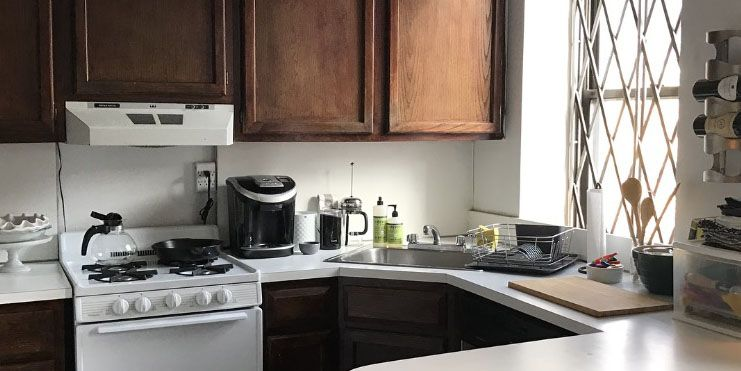 I Transformed My Kitchen For 375 Rental Kitchen Before And After