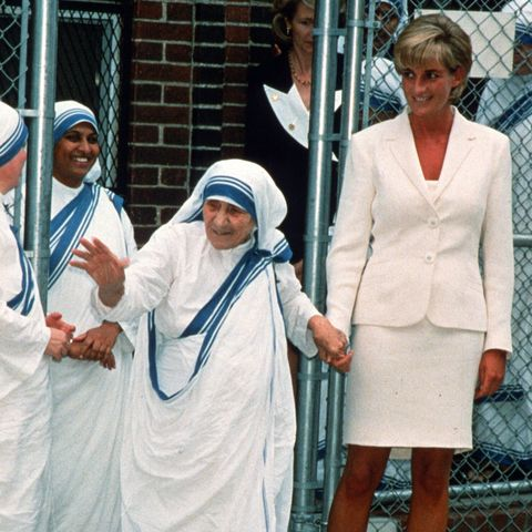 princess diana visits with mother teresa in new york city