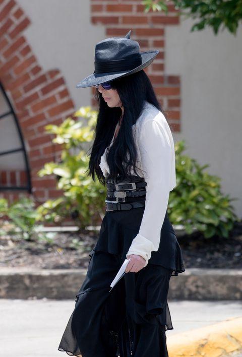 Cher attends Gregg Allman's funeral in Macon, Georgia