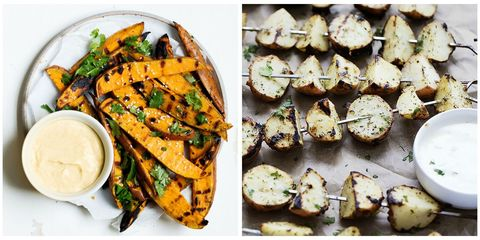 Grilled Potato Collage