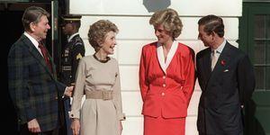 royal visit to reagan white house