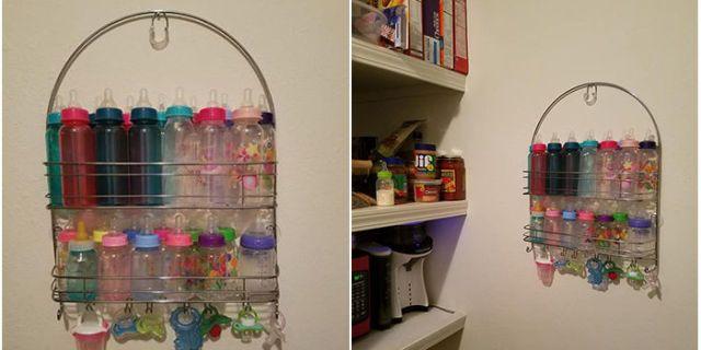Genius Baby Bottle Storage Hack Mom Uses Shower Caddy