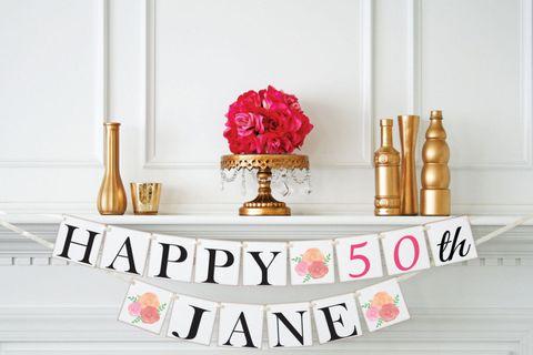 Courtesy Of Petite Flowers Studio Birthday Banner