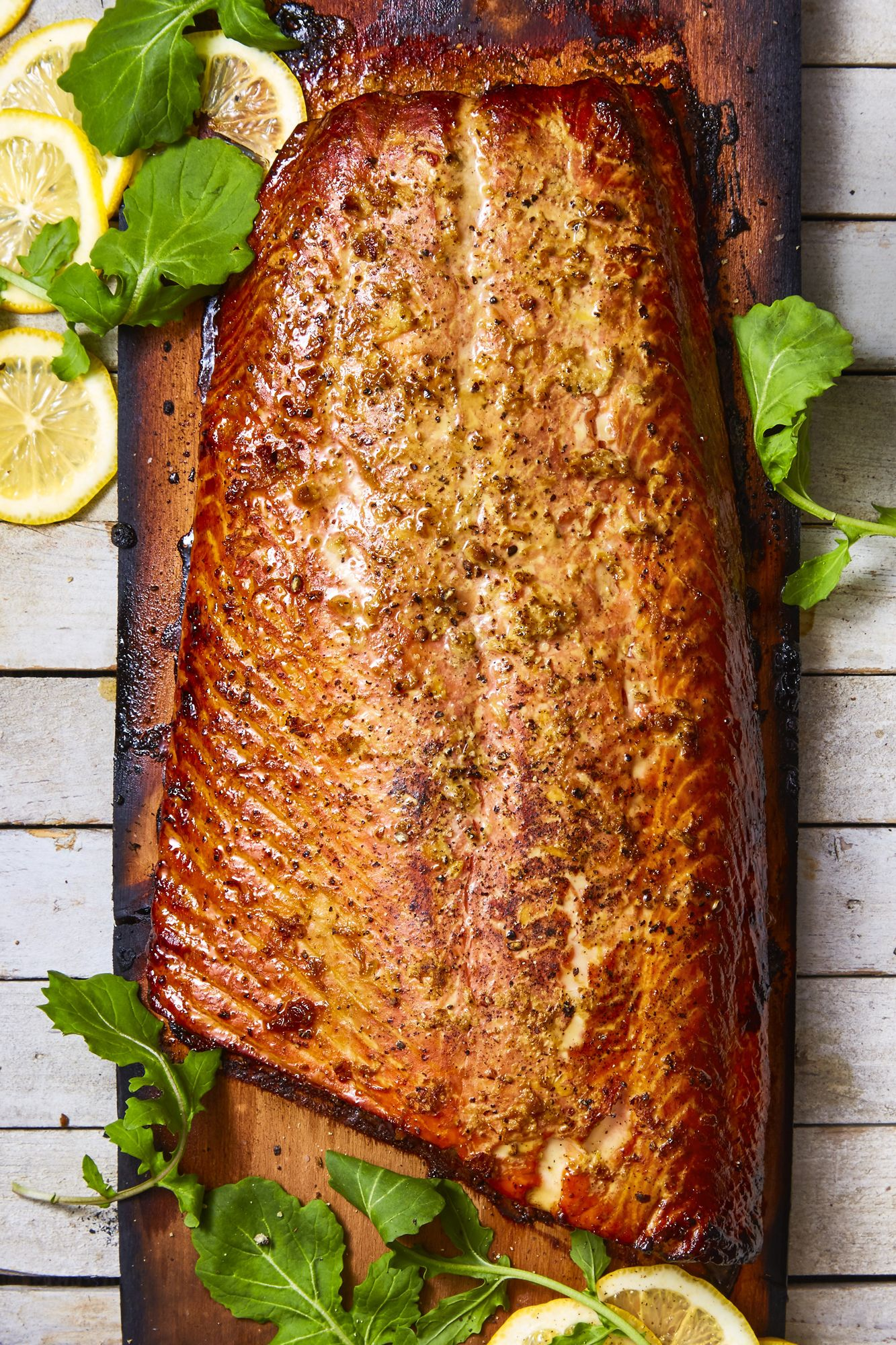 honey ginger cedar plank salmon