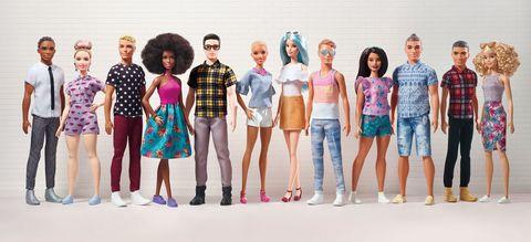 People, Fashion, Fashion design, Barbie, Youth, Fun, Doll, Fashion model, Event, Shorts,