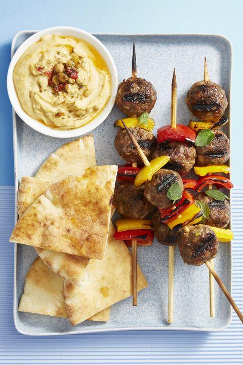 grilled lamb meatball skewers