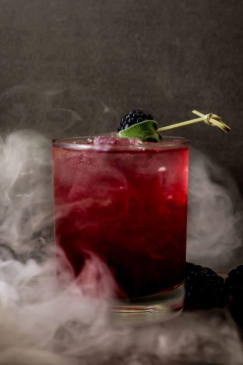 Blackberry Sage Margarita - Halloween Drinks
