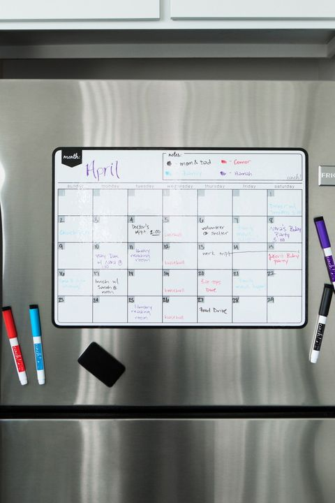 magnetic dry erase fridge calendar