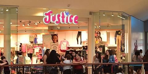 Justice store in mall