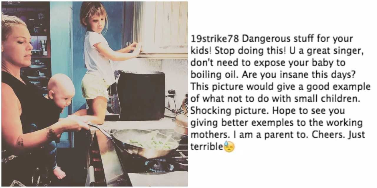 7703f38c98e1 Pink Mom-Shamed For Instagram - Pink Shamed for Instagram Cooking Dinner