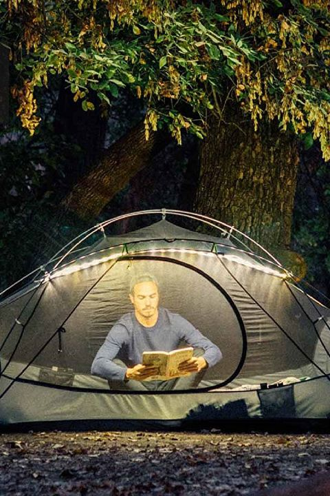 Tree, Tent, Sitting, Leisure, Night, Architecture, Recreation, Tints and shades, Plant, Camping,