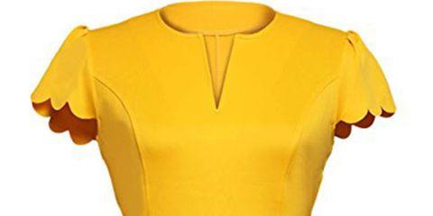 Clothing, Yellow, Sleeve, T-shirt, Jersey, Orange, Sportswear, Neck, Outerwear, Blouse,