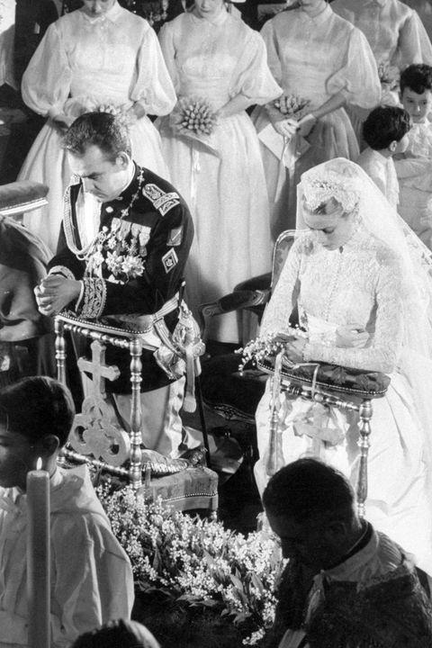 mariage royal, années 50