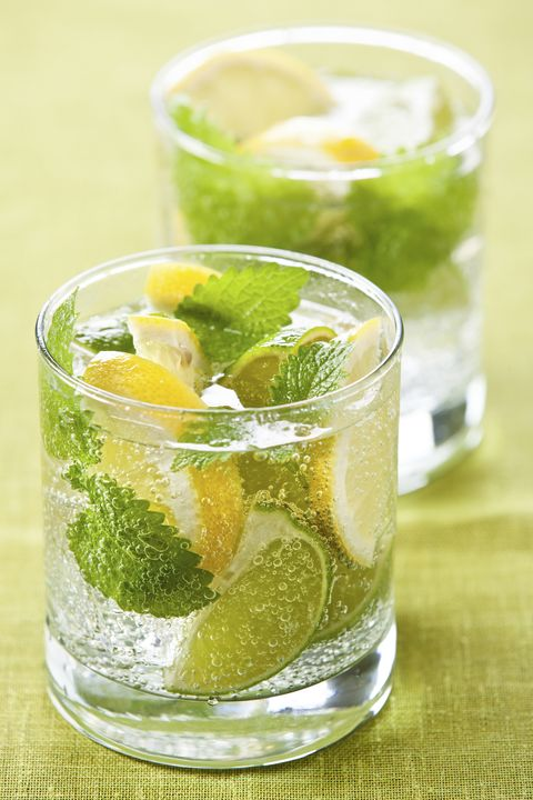 lemon-peppermint water